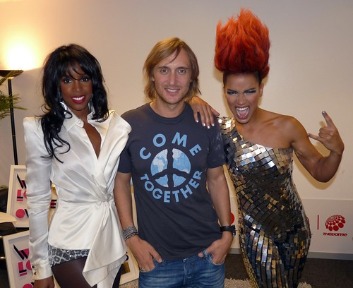 Eva with David Guetta & Kelly Rowland by Eva Simons.