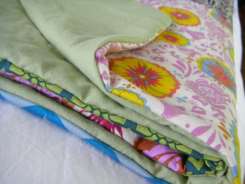 repurposed duvet used on back