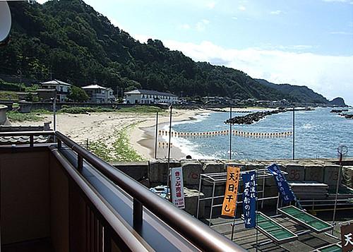 海カフェからの眺め~砂浜