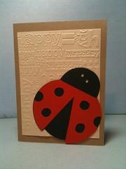 Birthday Card - Lady Bug (Jayni Majaski) Tags: birthday texture home cards happy hand handmade made homemade card happybirthday ladybug embossed cricut cuttlebug