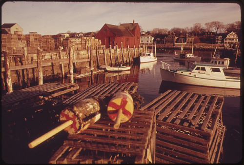 Rockport Harbor, Massachusetts by Deborah Parks 1973.