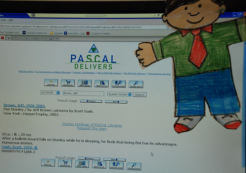 Flat Stanley in the online catalog