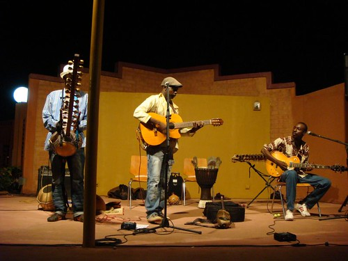Burkinabé live music at the French Cultural Center in Ouagadougou...