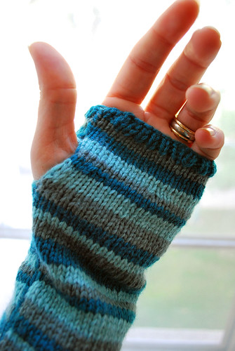 blue striped handwarmers