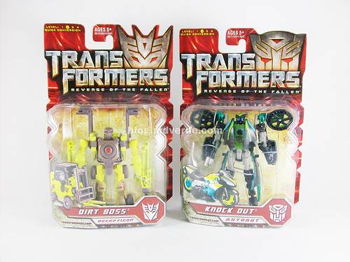 Transformers Dirt Boss y Knock Out RotF Scout - caja
