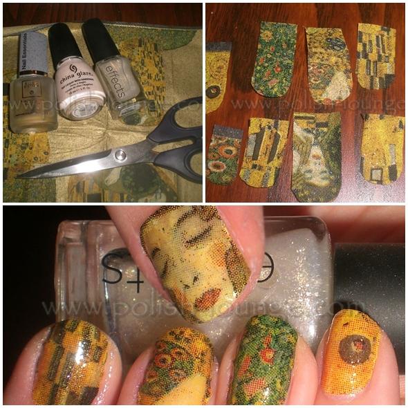 Klimt  - Unhas decoradas