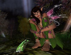 Fairy and Frog (Kara Trapdoor) Tags: