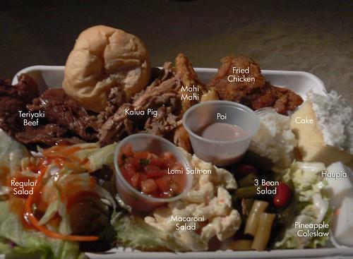 Luau Food Plate