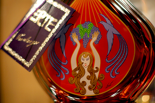 Erte cognac bottle