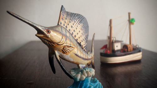 Sailfish & boat miniature
