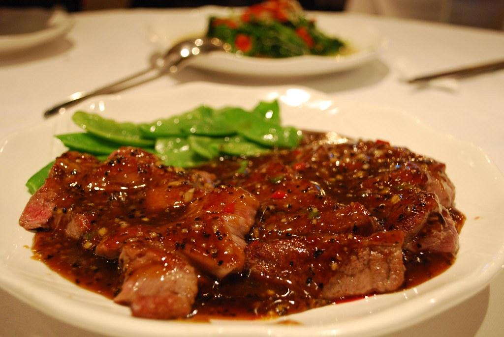 ???? Beef Eye Fillet with Black Pepper Sauce - Tea Garden AUD25.50