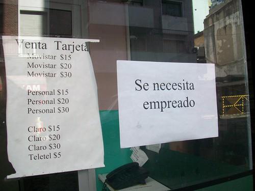 Se necesita Empreado @spanishtango