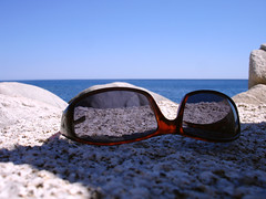 about a summer (egotoagrimi) Tags: summer sunglasses ikaria aegean 2006 greece noon   mavri shewasinthesea