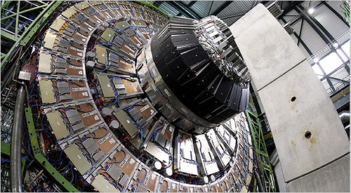 core of the superconducting solenoid magnet at the Large Hadron Collider