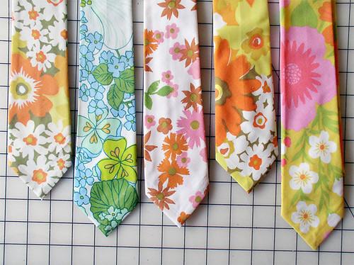 Vintage fabric neckties