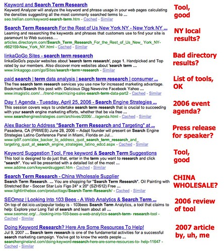 search term research - Google Search