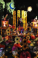Dia De Los Muertos (jezzebel) Tags: november festival night dayofthedead mexico skull la cemetary ceremony mexican hollywood diadelosmuertos hollywoodforevercemetery alter skelaton hollywoodforever