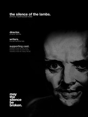 The silence of Lambs Helvetica Movie Poster (imjustcreative) Tags: typography design graphicdesign posters type helvetica silenceofthelambs