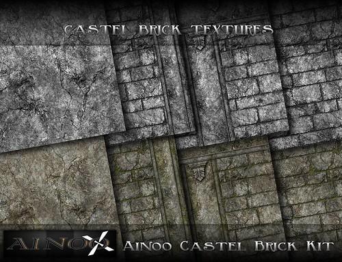 - Ainoo Castel Brick Kit - Castel Brick Textures by Ainoo By Alexx Pelia