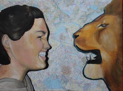 Alexandra and Lion