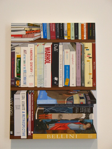 Jessica Rohrer painting: book shelf