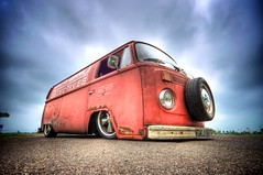 T2D Slammed Rat (Moldini { Jon Mold Photography }) Tags: red vw bay rat rust t2d rusty vehicle camper dub fens lowered hdr kombi volkswagon slammed panelvan burwell type2 baywindow vwcamper jonmold ratvan typetwodetectives