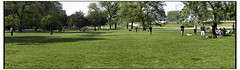 Lincoln Park Memorial Day Weekend - Panorama (swanksalot) Tags: panorama chicago strangers lincolnpark banal swanksalot sethanderson