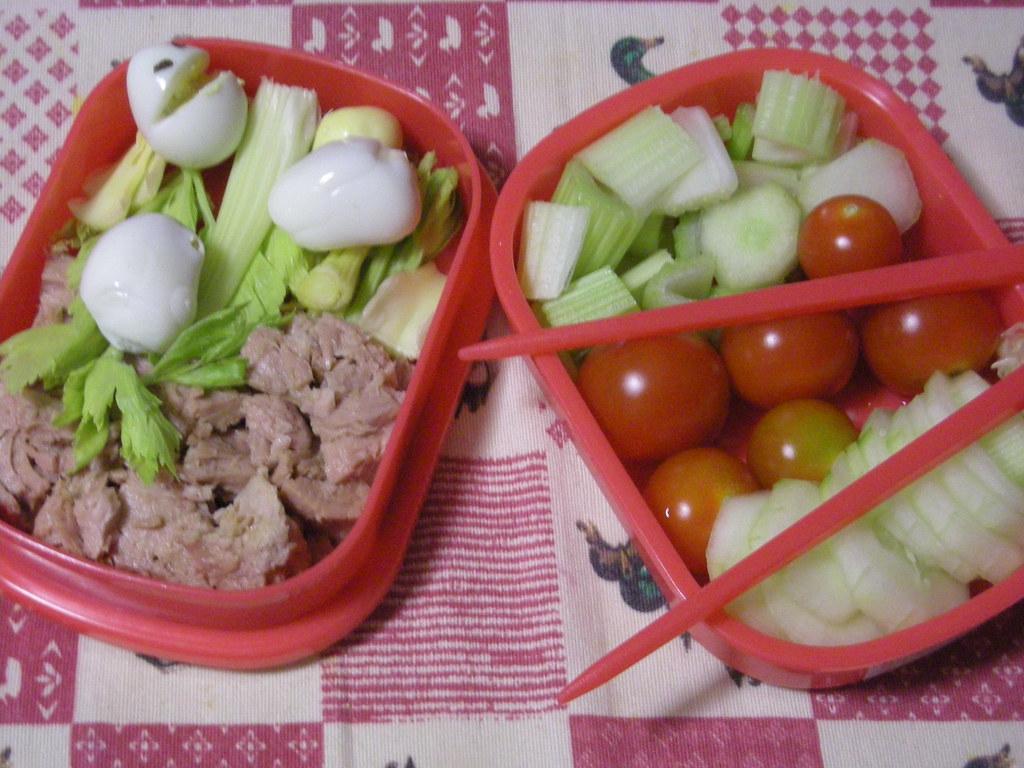 bento insalata tonno e pomodorini