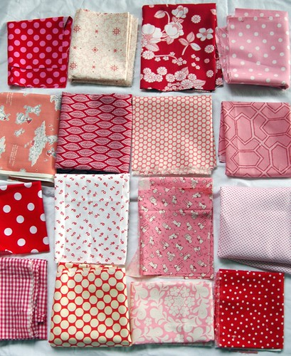red pink quilt