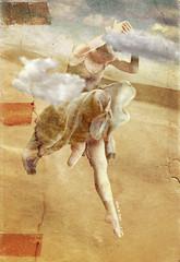 Water over Mars (vinciane.c) Tags: woman sun art clouds dance desert dancing dunes femme digitalpainting illusion younggirl wacomcintiq