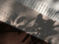 textured shawl closeup