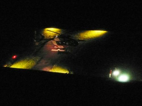 Helicopter landing hospital Solothurn