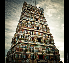 An Indian Temple (shri :)) Tags: shadow sun sunlight india clouds canon temple photography flickr sigma tamilnadu indiantemple artphotography sigma70300 lordshiva sigma70300apodgmacro 450d canon450d sigmaapomacro shrikanthsy