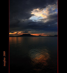 (tozofoto) Tags: light sky lake storm reflection water silhouette clouds canon volcano bravo hungary sierra hills mount balaton bakony szigliget badacsony rangy somogy gulcs platinumphoto theunforgettablepictures vosplusbellesphotos tozofoto saariysqualitypictures obramaestra