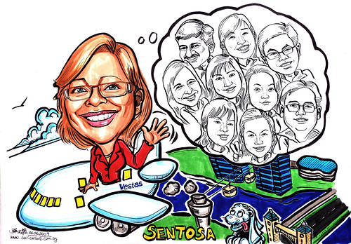 Caricatures for Vestas Asia Pacific Wind Technology Pte Ltd
