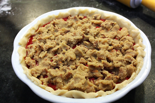 Triple Berry Pie ready for oven