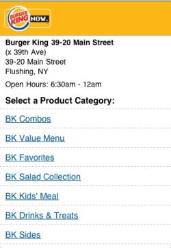 BK iPhone app