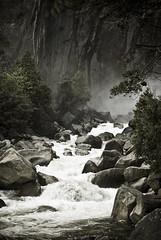 below yosemite falls