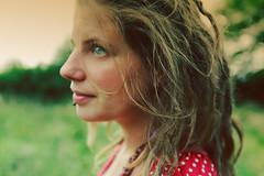 . (dine-izer.be) Tags: red girl dreadlocks hair dress blueeyes blond