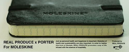 Porter x realdesign featuring Moleskine