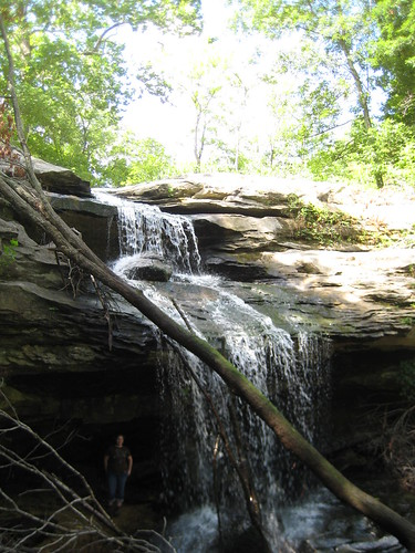 me under waterfall