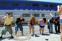 IMG_1556 (moonamtrak) Tags: girls moon girl train butt amtrak mooning laguna flashing metrolink amtrack niguel
