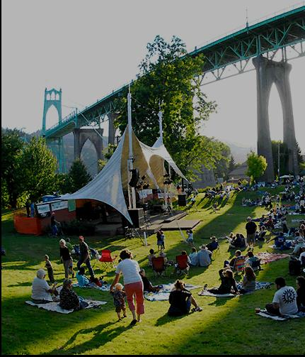 Cathederal Park Jazz Festival Under St Johns Bridge