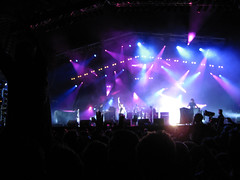 Lovebox Weekender (russelljsmith) Tags: lighting uk blue friends england music london festival fun lights concert victoriapark europe shadows purple stage gig crowd band drinks drunks 2009 lovebox loveboxweekender 77285mm loveboxweekender2009 lovebox2009 lastfm:event=861454