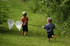 Bugcatchers (Jason Idzerda) Tags: ontario canada green slr net grass kids canon bug fun eos backyard running run bugs catching l catch usm 70200 2009 ef 70200mm 70200f4l f4l canonef70200mmf4lusm 40d