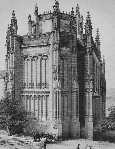 Monasterio de San Juan de Los Reyes de Toledo hacia 1875. Fotografía de L. Von Lömmer and Jonas. Colección Luis Alba