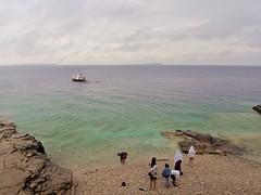 Scuba diving au loin