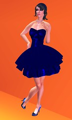 New Ivalde Chair Gift! (KymSara) Tags: fashion bluedress blueheels ivalde kymsara