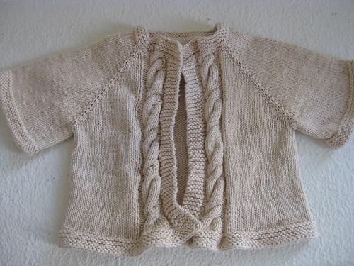Baby Cabled Raglan Cardigan