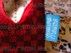 Pirmide Quadriculado Vermelho (Costura Maluca - Hanna e Fhilipe) Tags: vermelho vinho vaca vacas quadrado vaquinha etiqueta pirmide portamoeda costuramaluca